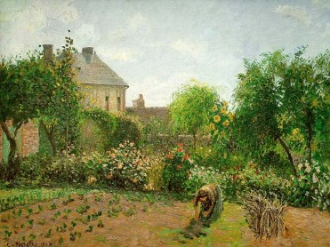 pissarro12, The artist's garden at Eragny, 1898