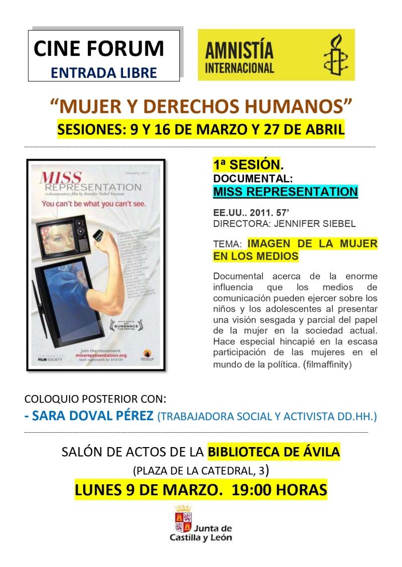 CINEFORUM MUJER Y DERECHOS HUMANOS -2020