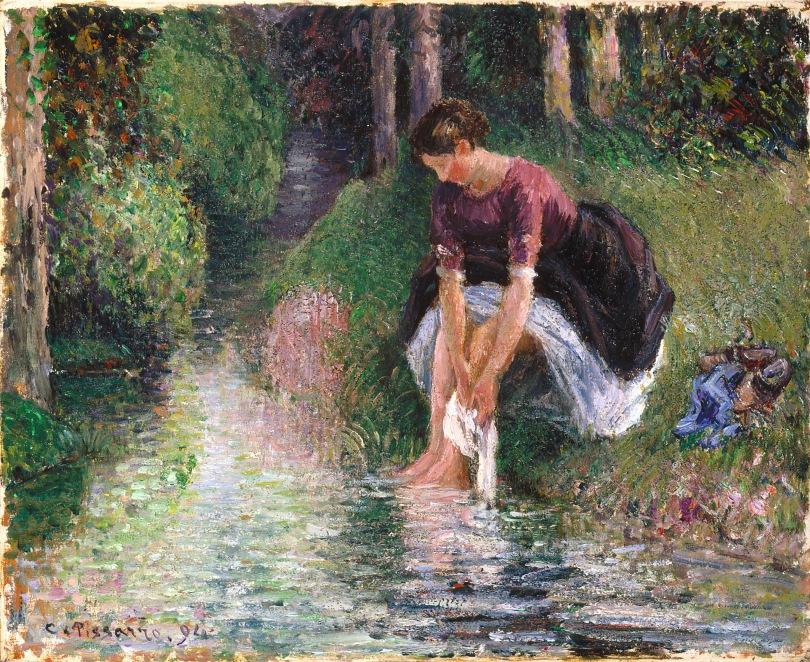 WLA_ima_Woman_Washing_Her_Feet_in_a_Brook